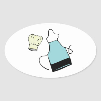 Apron & Hat Oval Stickers