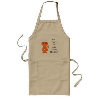 Apron  Humorous Kitty Kat Italian Chef