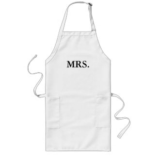 APRON-MR. AND MRS. BRIDE AND GROOM LONG APRON