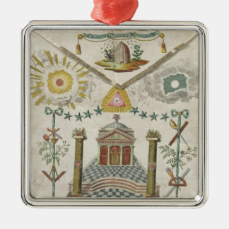 Apron of a Master of Saint-Julien Lodge in Christmas Ornament