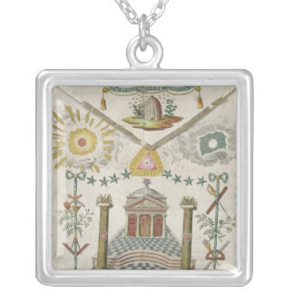 Apron of a Master of Saint-Julien Lodge in Silver Plated Necklace
