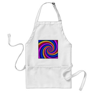 Apron - Rainbow Swirl Fractal Pattern