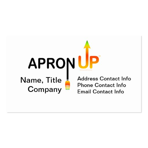 APRON UP! BUSINESS CARD