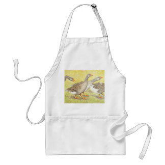 Apron with Geese