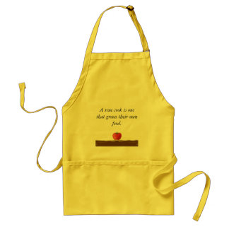 Apron with organic produce