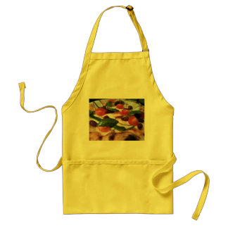 Apron with pizza topping