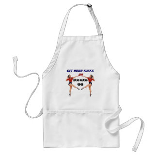 """Apron with Retro """"Kicks"""" Gals Framing Route 66 RT"""