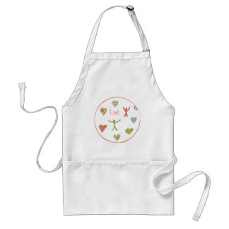 Apron with Simple Hearts Love Design