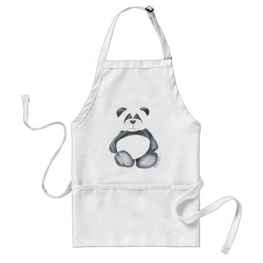 Apron with Unique Panda Bear