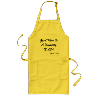 Apron With Wine Saying