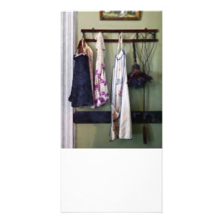 Aprons and Feather Duster Photo Card Template
