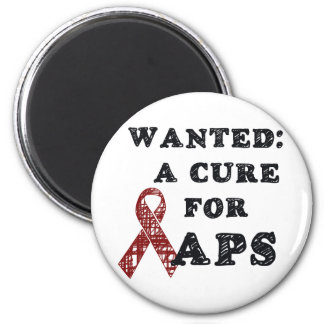 APS Awareness Items 6 Cm Round Magnet