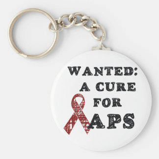 APS Awareness Items Basic Round Button Key Ring