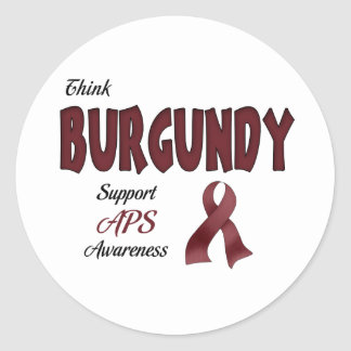 APS Awareness Items Classic Round Sticker
