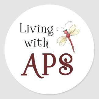 APS Awareness Items Round Sticker