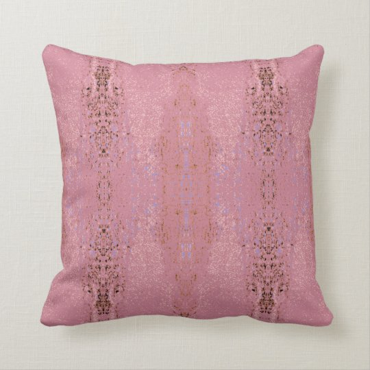 'Aptitude' Rose Pink Pattern Throw Pillow