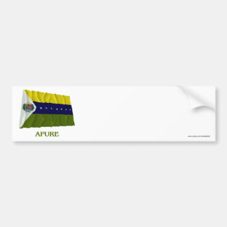 Apure Waving Flag with Name Bumper Sticker