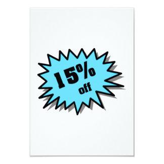 Aqua 15 Percent Off 9 Cm X 13 Cm Invitation Card