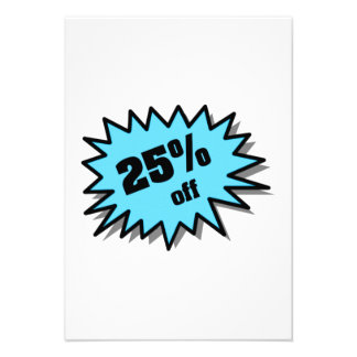 Aqua 25 Percent Off Custom Invitation