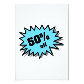 Aqua 50 Percent Off 9 Cm X 13 Cm Invitation Card