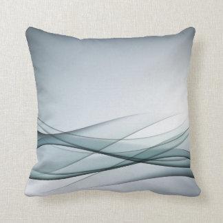 Aqua Abstract Throw Pillow