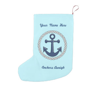 Aqua Anchors Aweigh Personalized Double Sided