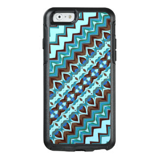 Aqua and Chocolate Fractal OtterBox iPhone 6/6s Case