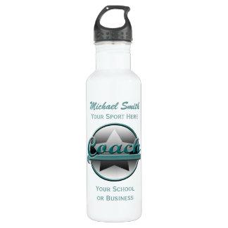 Aqua and Gray Star Coach Liberty Bottle 710 Ml Water Bottle