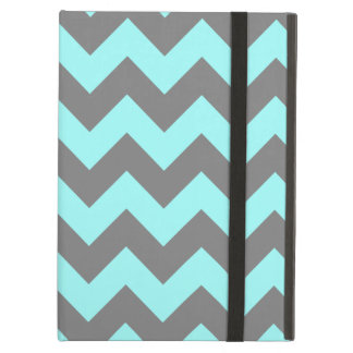 Aqua and Gray Zigzag Case For iPad Air