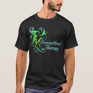 Aqua and Green T-Shirt