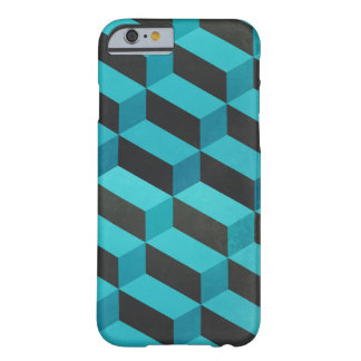 Aqua and grey geometric barely there iPhone 6 case