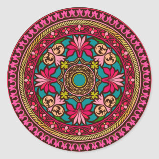 Aqua and Pink Moroccan Sticker