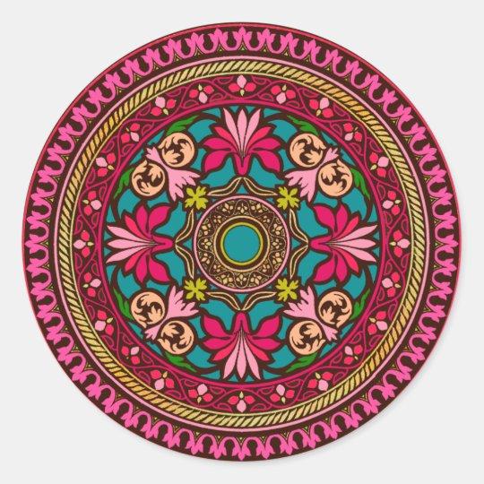 Aqua and Pink Moroccan Sticker