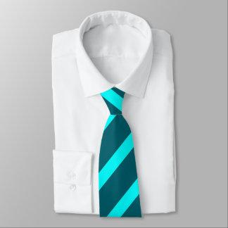 Aqua and Teal II Regimental Stripe Tie