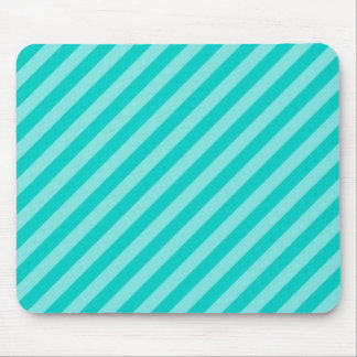 Aqua and Turquoise Stripes Mouse Mat
