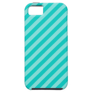 Aqua and Turquoise Stripes Tough iPhone 5 Case