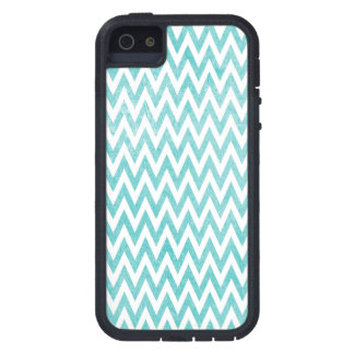 Aqua and White Chevron Case For The iPhone 5