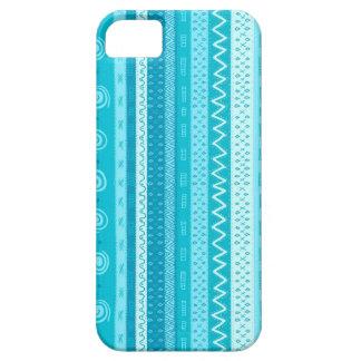 Aqua And White Global Print iPhone Case iPhone 5 Case