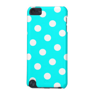 Aqua and White Polka Dot Pattern iPod Touch (5th Generation) Cases