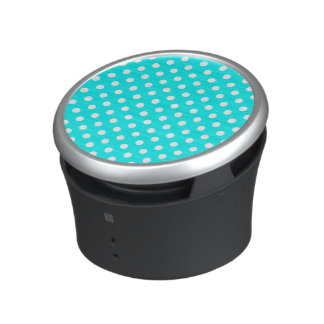 Aqua and White Polka Dots Speaker