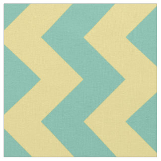 Aqua and Yellow Chevron Stripe Fabric