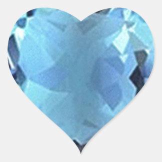 Aqua Aquamarine gem Gifts by Sharles Heart Sticker