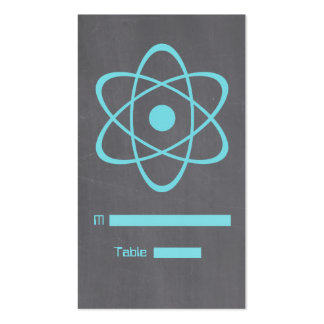 Aqua Atomic Chalkboard Place Card Pack Of Standard Business Cards