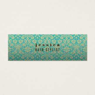 Aqua Baroque Wallpaper Hair Stylist Skinny Card