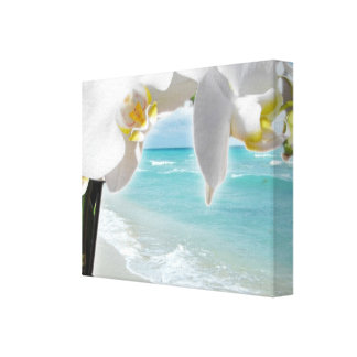 Aqua Beach Orchid Canvas Print