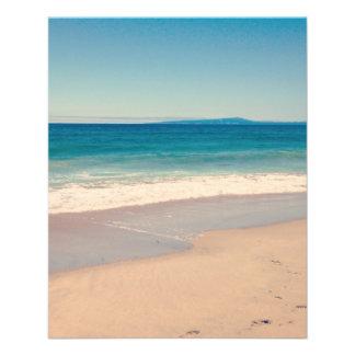 Aqua Beach Scene 11.5 Cm X 14 Cm Flyer