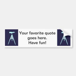 Aqua Binoculars - Navy blue Bumper Stickers