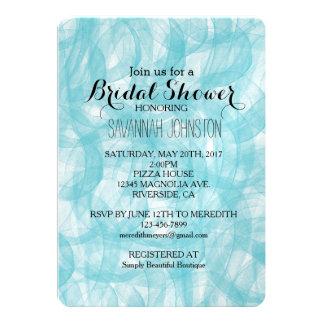 Aqua Bliss Watercolor bridal shower 13 Cm X 18 Cm Invitation Card