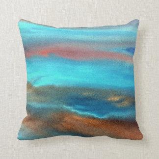Aqua Blue Abstract Cushion