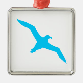 Aqua Blue Albatross Christmas Ornament